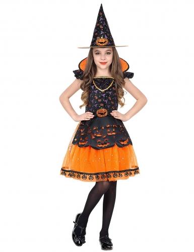 Déguisement sorcière citrouille fille-1