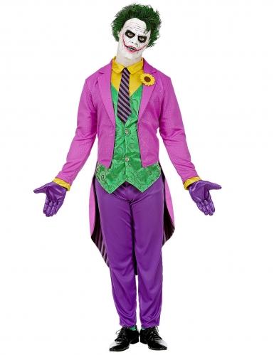 Déguisement psychopathe fou violet homme-1