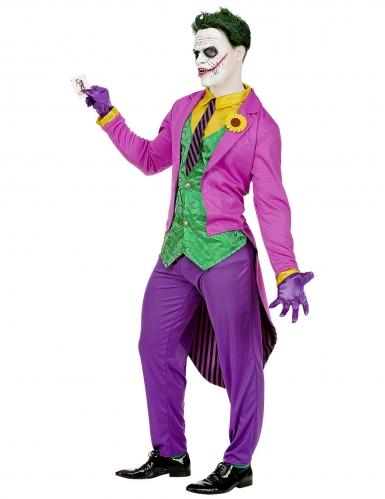 Déguisement psychopathe fou violet homme-2