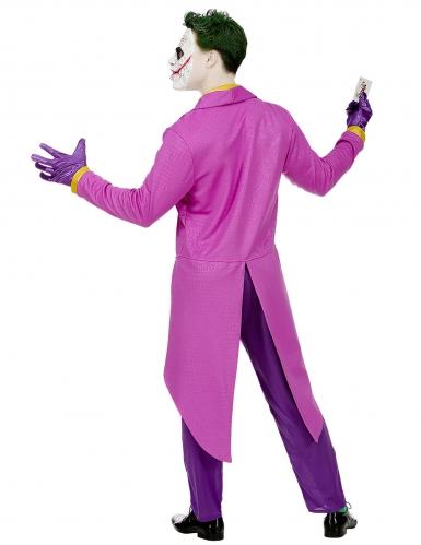 Déguisement psychopathe fou violet homme-3