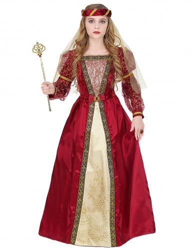 Déguisement princesse médiévale royale fille-1