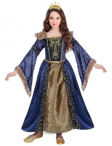 Déguisement reine médiévale hivernale fille-1