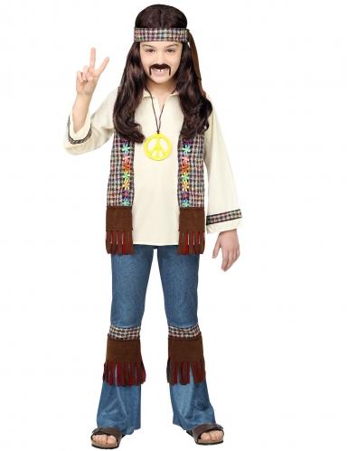 Déguisement hippie peace marron enfant