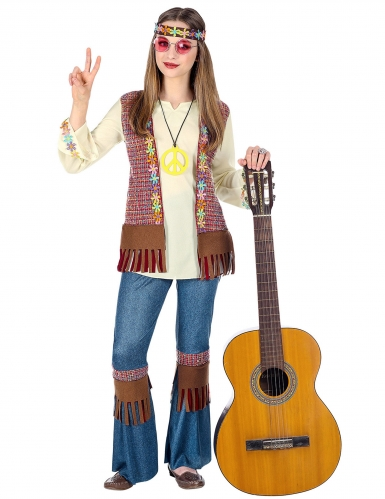 Déguisement hippie peace fille
