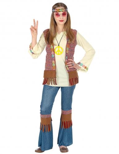 Déguisement hippie peace fille-1