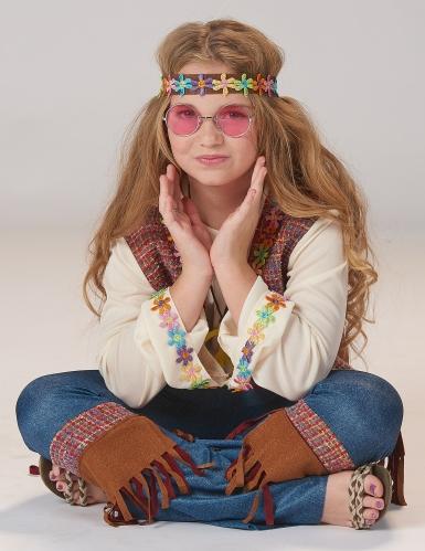 Déguisement hippie peace fille-2