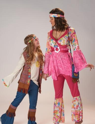 Déguisement hippie peace fille-3