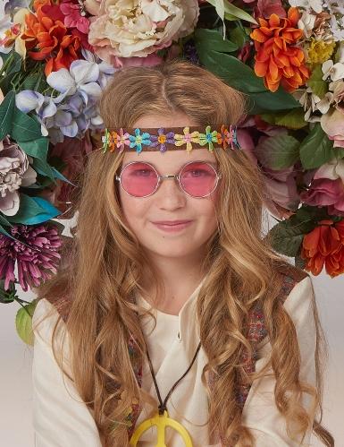 Déguisement hippie peace fille-4