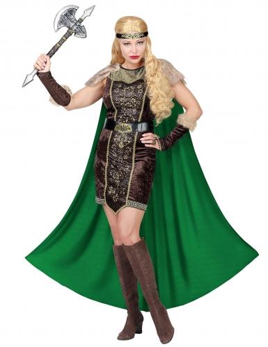 Déguisement viking fourrure avec cape femme