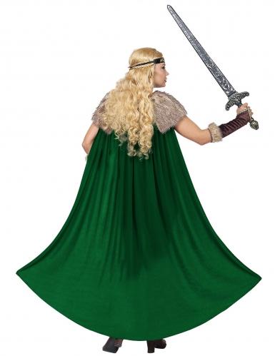 Déguisement viking fourrure avec cape femme-3