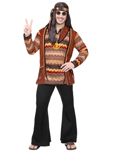 Déguisement hippie nature homme-1