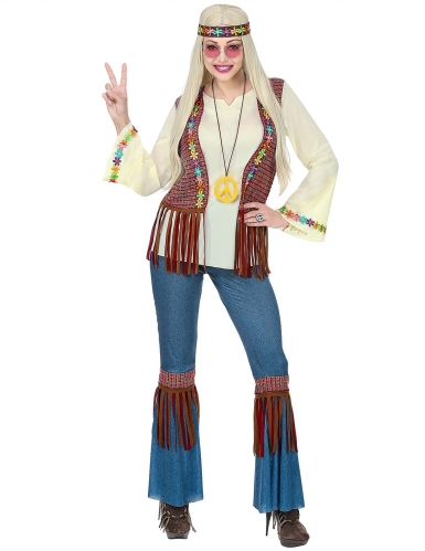 Déguisement hippie peace femme-1
