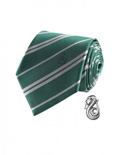 vente moins chère femme acheter populaire Réplique cravate deluxe avec pin's Serpentard Harry Potter™