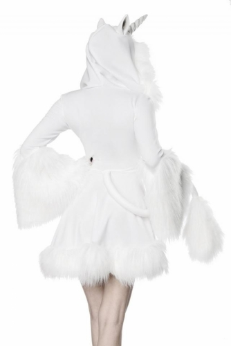 Déguisement robe licorne blanche sexy femme-1