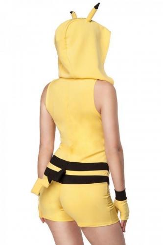 Déguisement créature jaune mystique femme-1