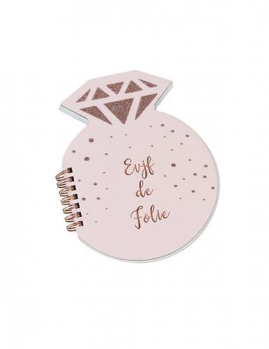 Carnet diamant EVJF de folie rose gold 68 pages 14 x 18 cm