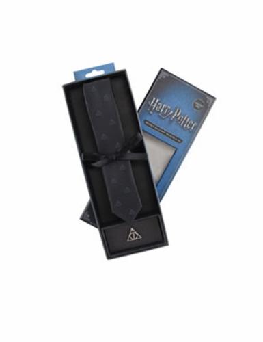 Réplique cravate deluxe avec pin's Les Reliques de la Mort Harry Potter™-1
