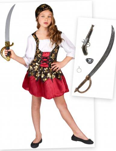 Pack déguisement et accessoires de pirate fille