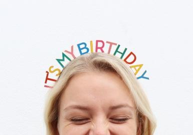 Serre-tête It's my Birthday adulte-1