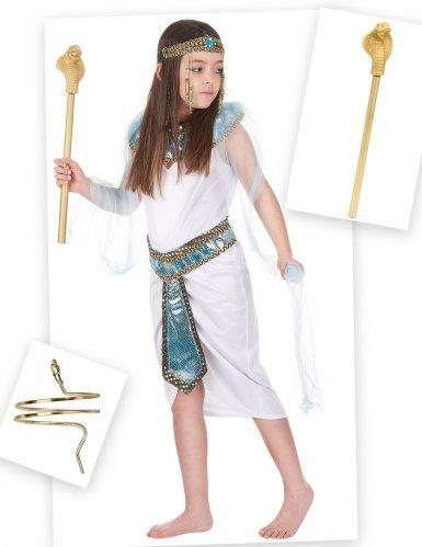 Pack déguisement d'Égyptienne fille avec bracelet et sceptre