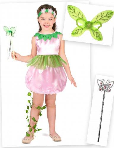 Pack déguisement fée fille avec ailes et baguettes