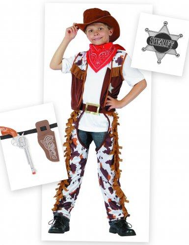 Pack déguisement cowboy garçon avec accessoires