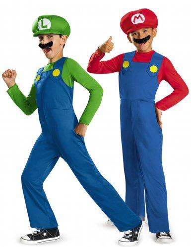 Déguisement de couple Mario™ et Luigi™ enfants