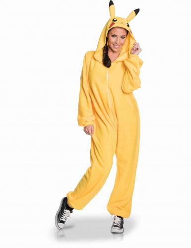 Déguisement combinaison Pikachu Pokemon™ adulte-2