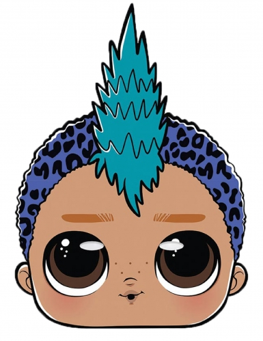 Masque en carton Punk boy LOL Surprise™
