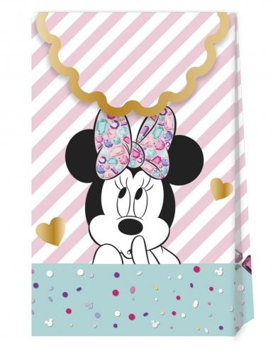 6 sacs cadeaux en carton premium Minnie™ 21 X 13 cm