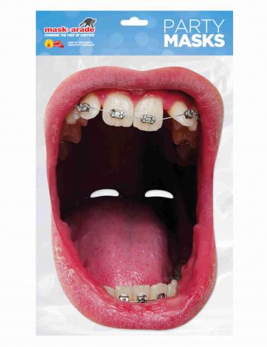 Masque en carton bouche géante appareil dentaire adulte