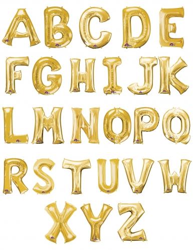 Ballon aluminium lettre doré 33 cm-1