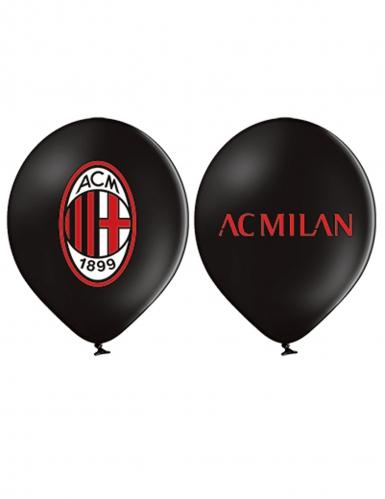 12 Ballons en latex AC Milan™ 30 cm
