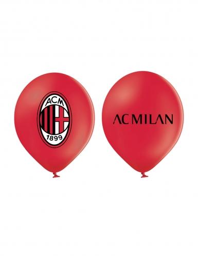 12 Ballons en latex AC Milan™ 30 cm-1
