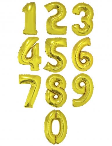 Ballon aluminium chiffre doré 1 m-1