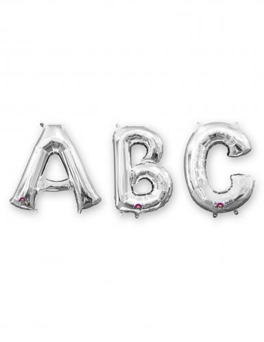 Ballon aluminium lettre argentée 33 cm