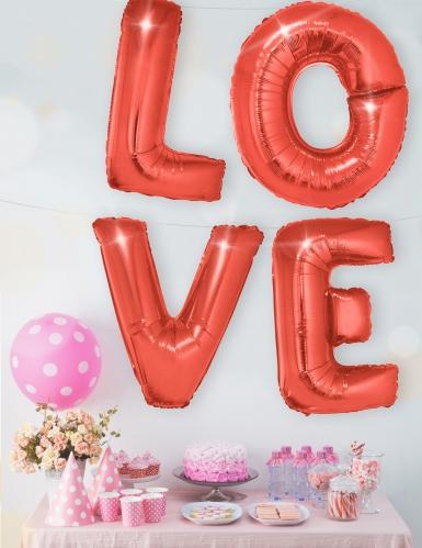 Ballon aluminium lettre rouge 1 m-2