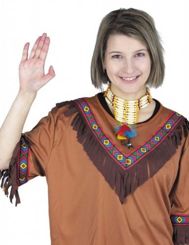 Collier indien avec plumes adulte