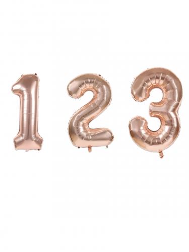 Ballon aluminium chiffre rose gold 36 cm