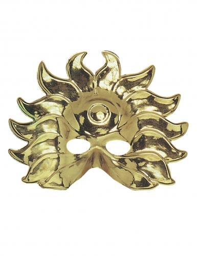 Masque soleil or en plastique adulte
