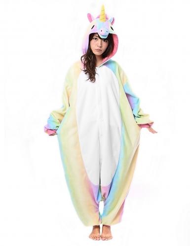 Combinaison Kigurumi™ licorne arc-en-ciel adulte