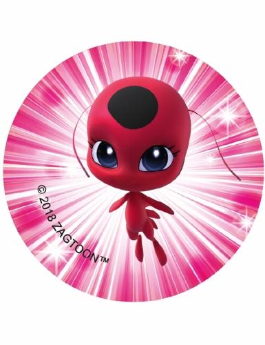 12 Décorations en sucre pour biscuits Ladybug™ 6 cm-6