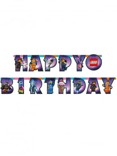 Guirlande en carton Happy Birthday La Grande Aventure Lego 2™ 163 x 13 cm