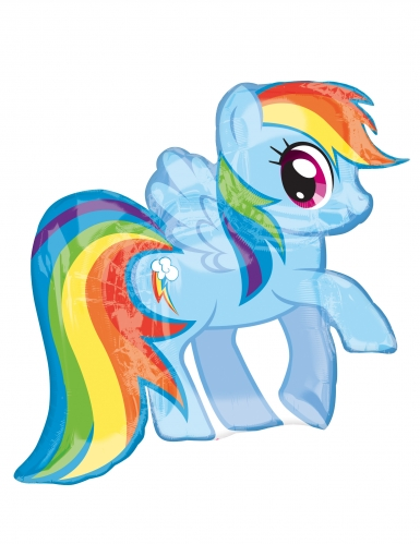 Ballon aluminium My Little Pony™ Rainbow Dash 71 x 68 cm