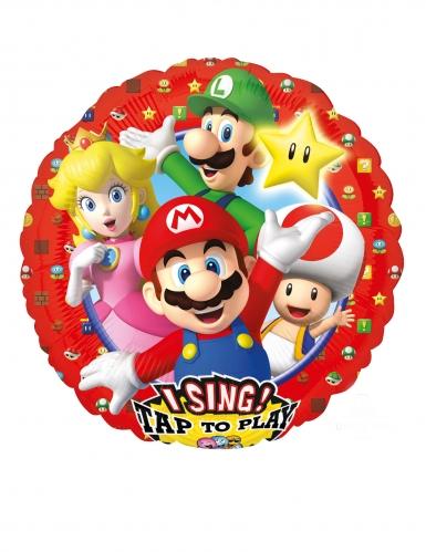 Ballon en aluminium musical Super Mario Bros™ 71 x 71 cm