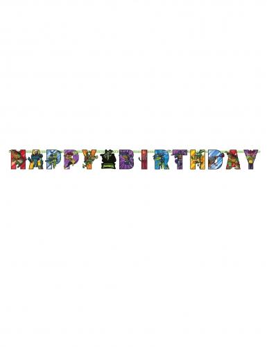 Guirlande en carton Happy Birthday Le Destin des Tortues Ninja™ 200 x 15 cm-1