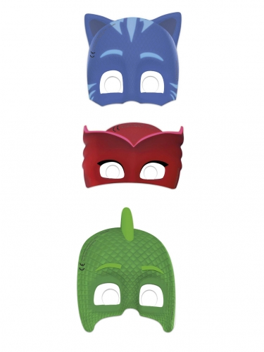 6 masques en carton Pyjamasques ™