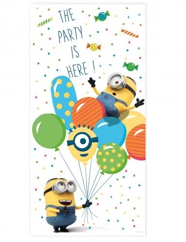 Décoration de porte Minions ballons party™ 150 x 75 cm