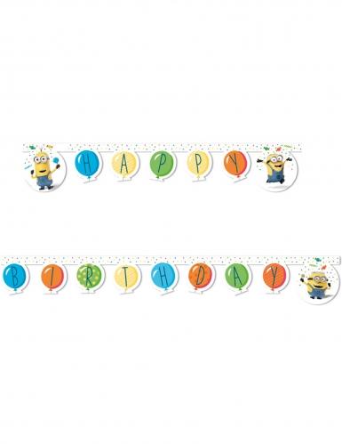 Guirlande Happy Birthday Minions ballons party™ 2 m