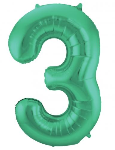 Ballon alluminium vert métallique chiffre 86 cm-3